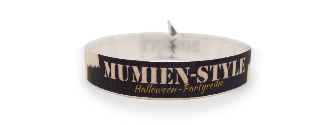 "Wristband Halloween Party ""mummy"""