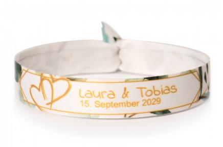 Wedding bracelet - eucalyptus