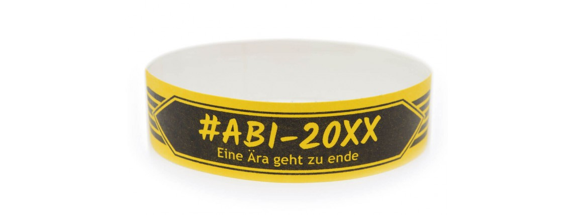 Wristband one-colour print - Abiparty