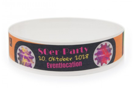 Wristband with Colour Printing - 80s