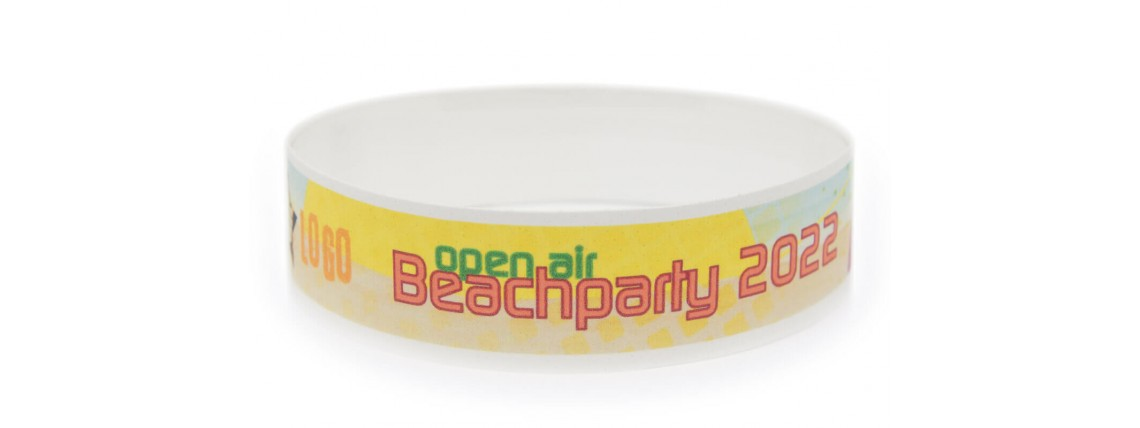 Wristband with Colour Printing - Beachparty