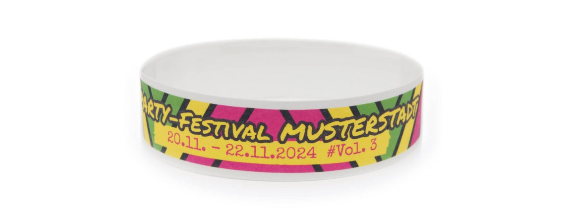Wristband for Festivals with Colour Printing