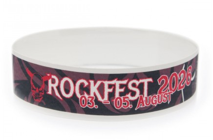 Tyvek Wristband with Color Printing