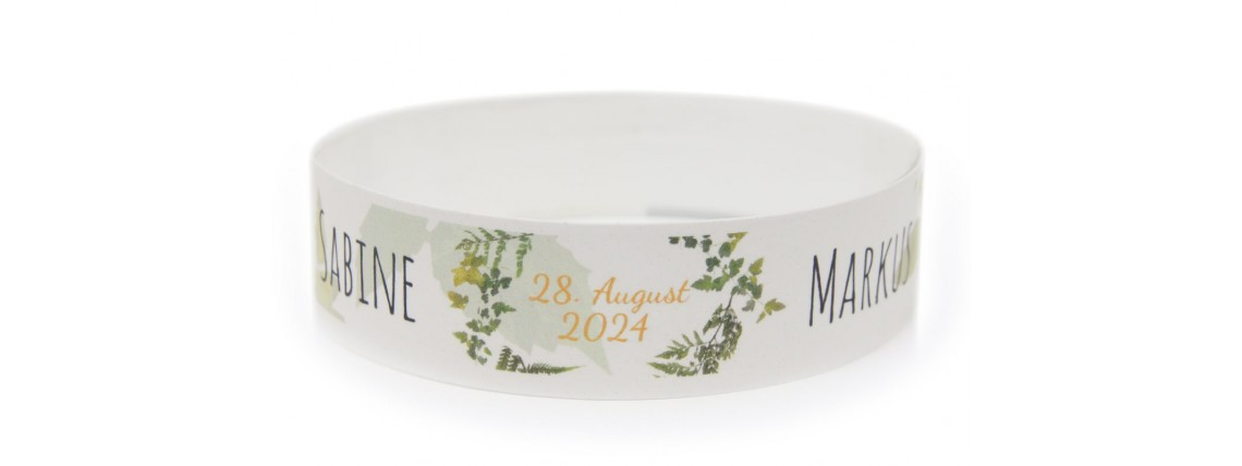 Wristband with Color Printing - Flowers