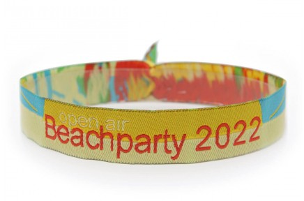 "Woven wristband ""Beachparty"""