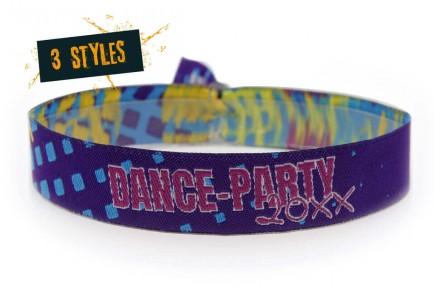 "Woven wristband ""Disco-Party"""