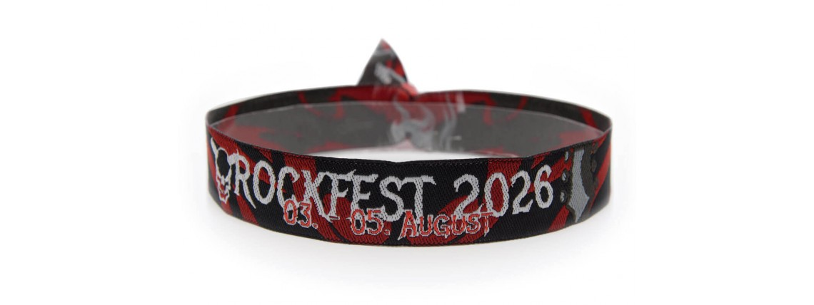 """Woven bracelet """"Rock festival"""""""