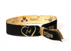 Woven bracelet - Love and Hearts