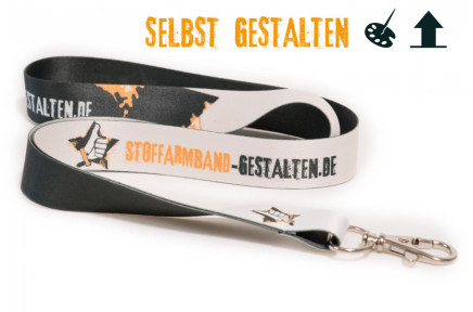 Design your own lanyard - colored back